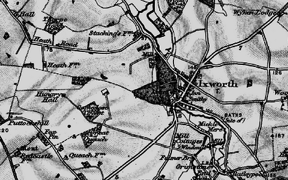 Old map of Ixworth in 1898