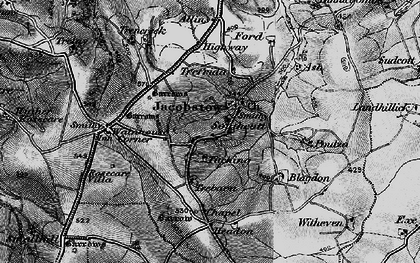 Old map of Allins in 1896