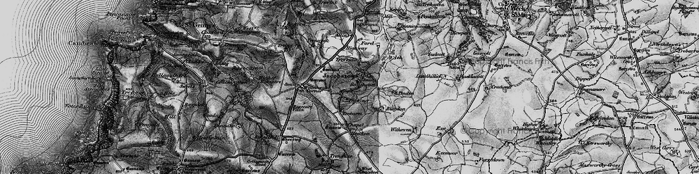 Old map of Tobarn in 1896