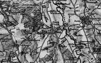 Old map of Westdown in 1898