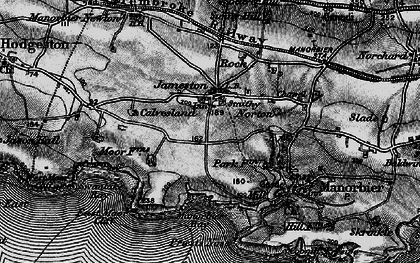 Old map of Jameston in 1898