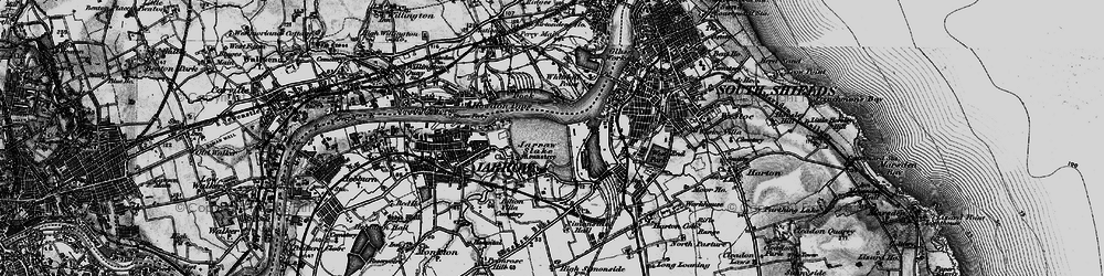 Old map of Jarrow in 1898