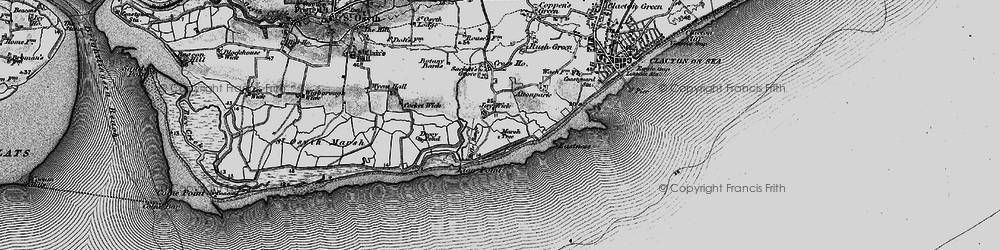 Old map of Jaywick in 1895