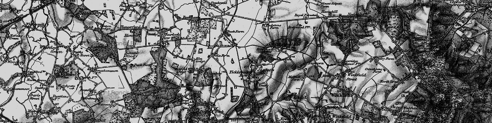 Old map of Westleymill in 1895