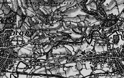 Old map of Jericho in 1896
