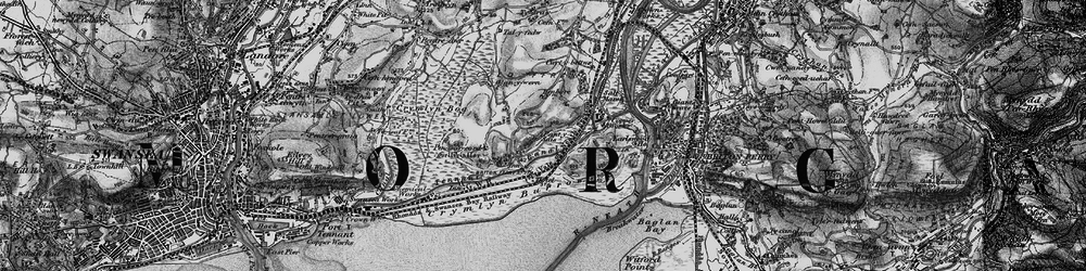 Old map of Jersey Marine in 1898