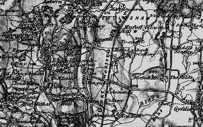 Old map of Johnstown in 1897