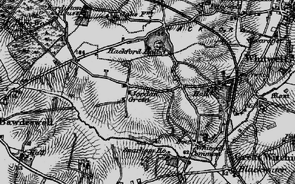 Old map of Whitwell Hall in 1898