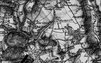 Old map of Jordans in 1896