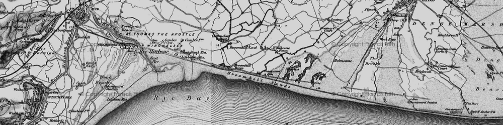 Old map of Wicks, The in 1895