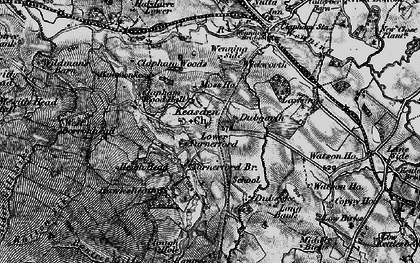 Old map of Lawsings in 1898