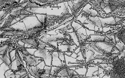 Old map of Kehelland in 1896
