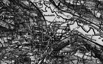 Old map of Keighley in 1898