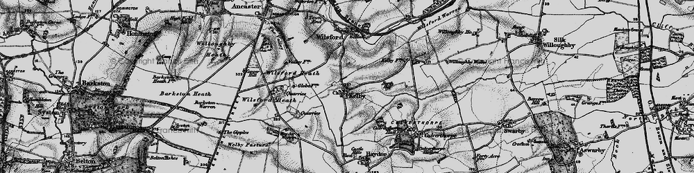 Old map of Wilsford Heath in 1895