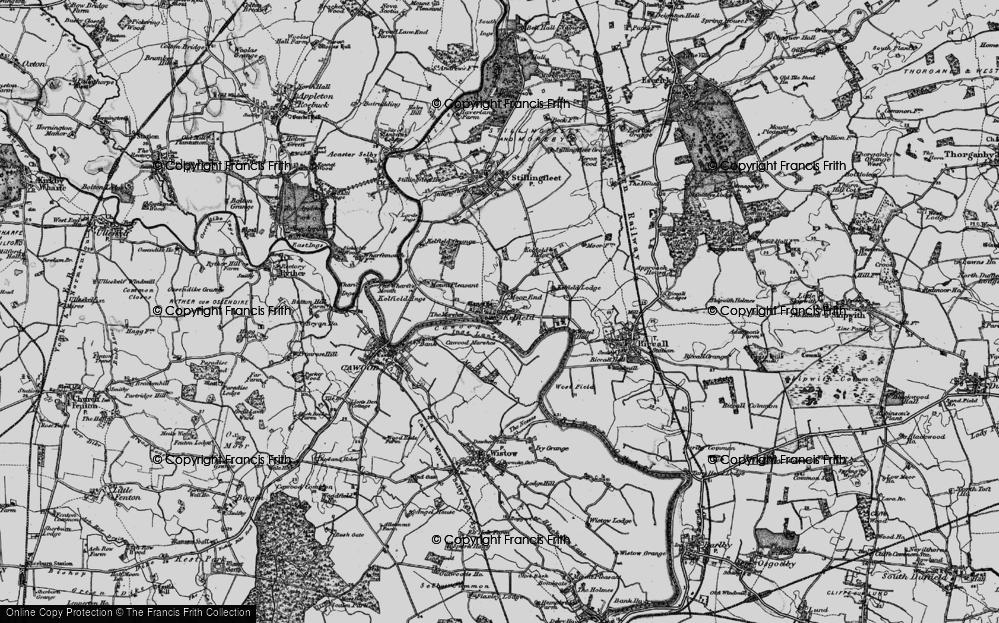 Old Map of Kelfield, 1898 in 1898
