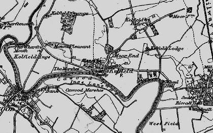 Old map of Wheel Hall in 1898