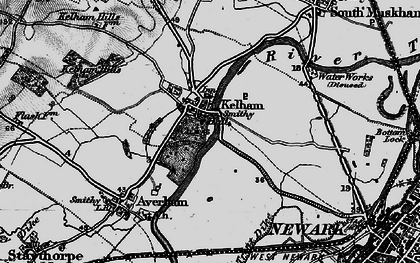 Old map of Kelham in 1899