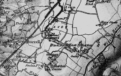Old map of Kellaways in 1898