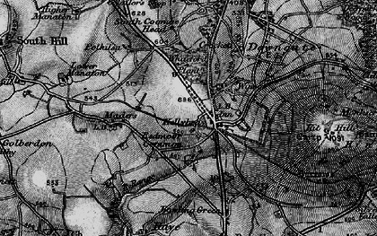 Old map of Kelly Bray in 1896