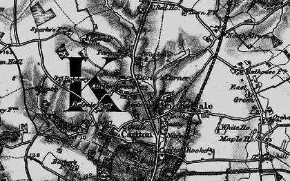 Old map of Kelsale in 1898