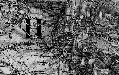 Old map of Kelsall in 1896