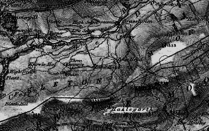 Old map of Balderhead Reservoir in 1897