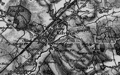 Old map of Kelvedon in 1896