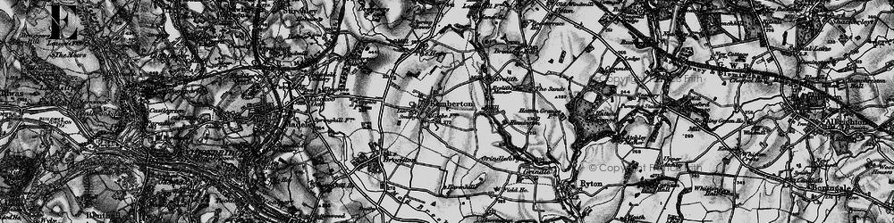 Old map of Kemberton in 1899