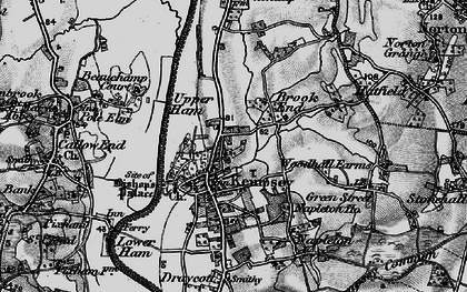 Old map of Kempsey in 1898