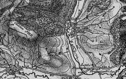Old map of Kempton in 1899