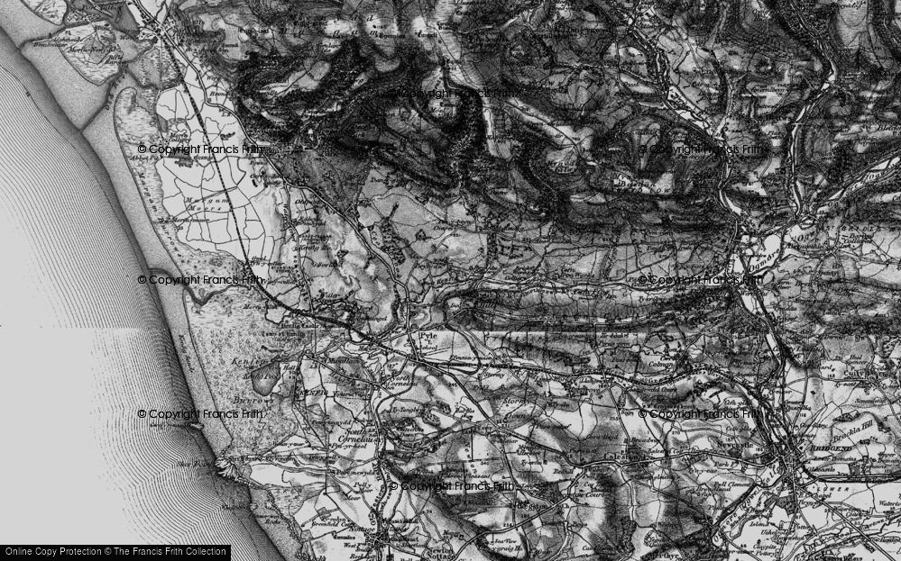 Old Map of Kenfig Hill, 1897 in 1897