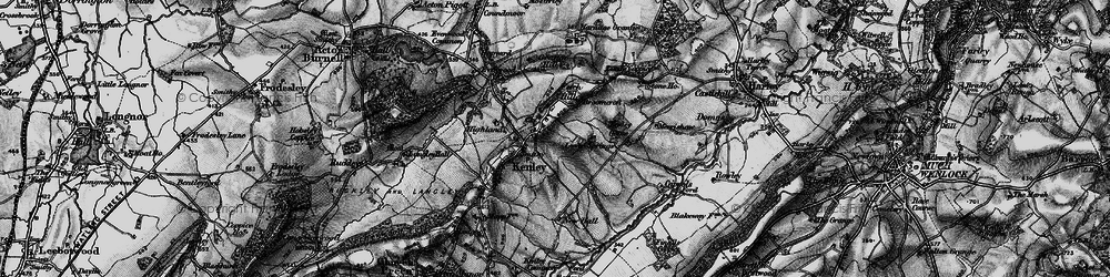 Old map of Kenley in 1899