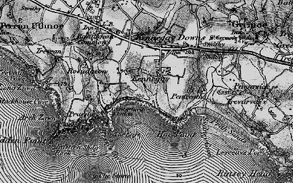 Old map of Kenneggy in 1895