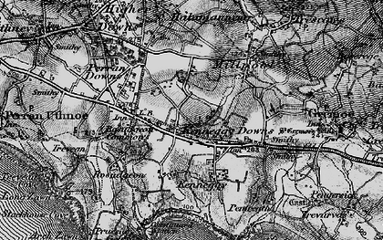 Old map of Kenneggy Downs in 1895