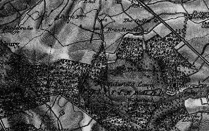 Old map of Whittlewood Forest in 1896