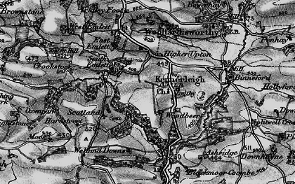 Old map of Kennerleigh in 1898