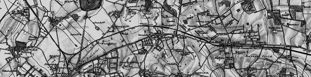 Old map of Lanwades Park in 1898