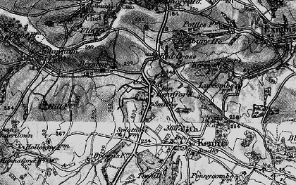 Old map of Kennford in 1898