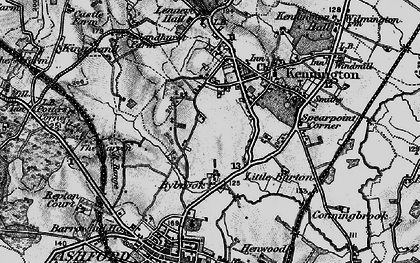 Old map of Kennington in 1895
