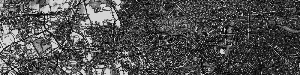 Old map of Kensington in 1896