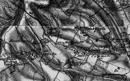 Old map of Whipsnade Heath in 1896