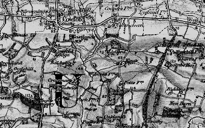 Old map of Bankfield Grange in 1895
