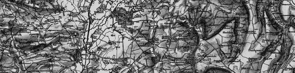 Old map of Wressing in 1898