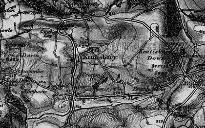 Old map of Kentisbury in 1898