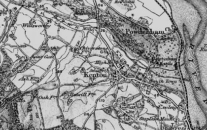 Old map of Kenton in 1898