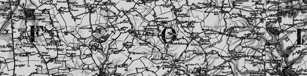 Old map of Woodcroft Hall in 1898