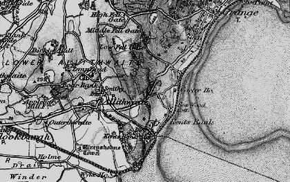 Old map of Kents Bank in 1898