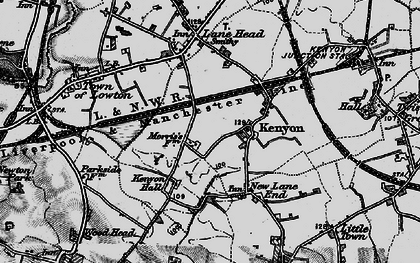 Old map of Kenyon in 1896