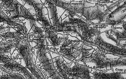 Old map of Kerley Downs in 1895