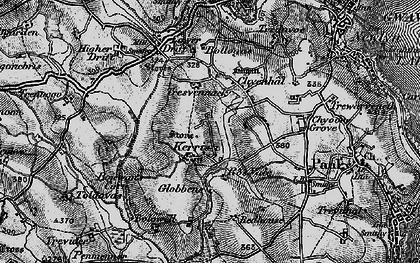 Old map of Kerris in 1895